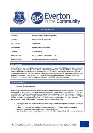 Recruitment and Partnership Officer