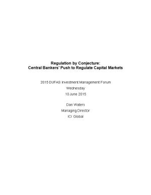 Regulation by Conjecture
