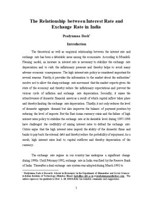 Relationship Between Interest Rate and Exchange Rate