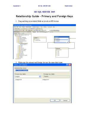 Relationship Guide Primary and Foreign Keys
