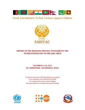 Report of the Regional Meeting to Celebrate the International Day of the Girl Child