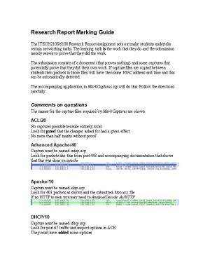 Research Report Marking Guide