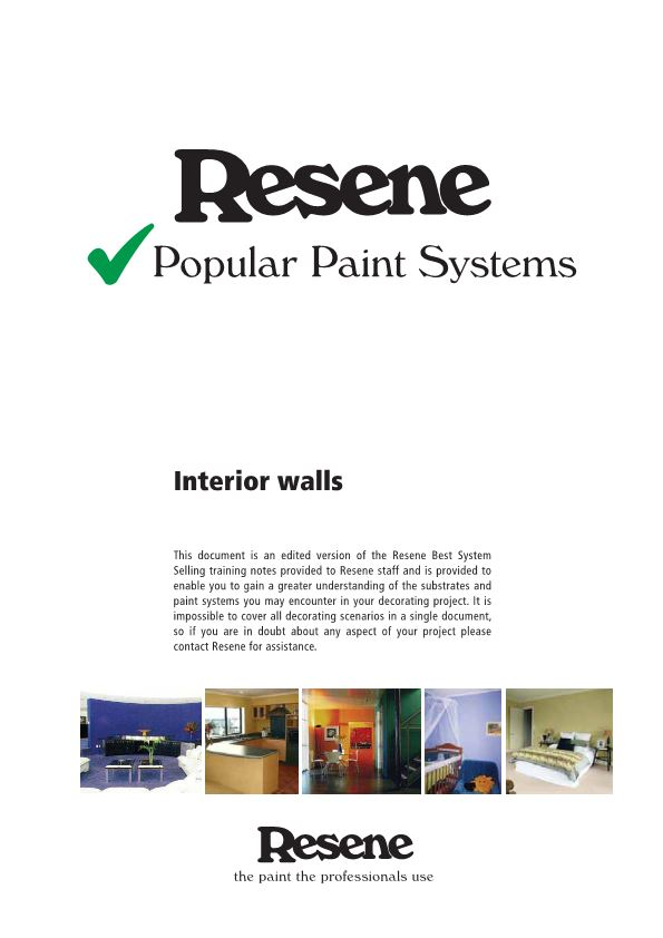 Resene Popular Paint Systems
