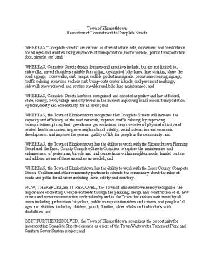 Resolution of Commitment to Complete Streets