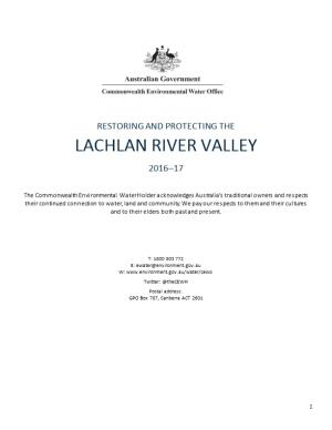 Restoring and Protecting the Lachlan River Valley 2016-17