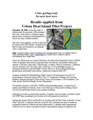 Results Applied Fromurban Heat Island Pilot Project