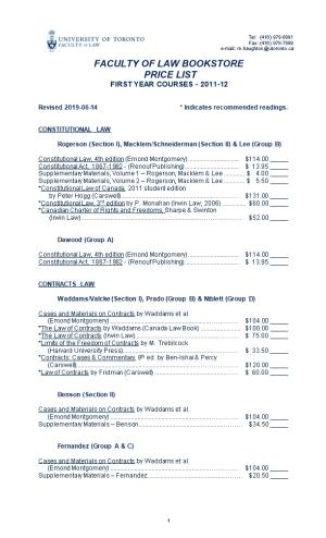 Revised 2012-02-10* Indicates Recommended Readings