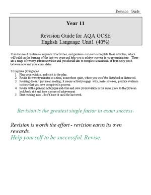 Revision Guide for AQA GCSE