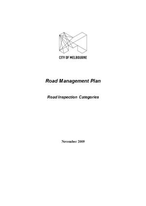 Road Management Plan - Road Inspection Categories