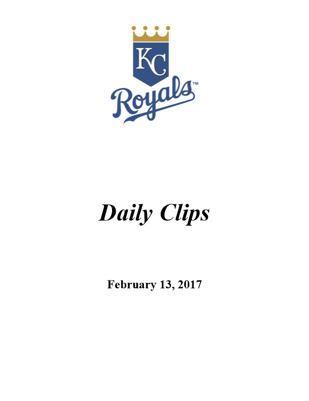 Royals Have Spring in Their Step Entering '17