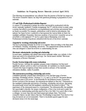 RPT Committee Procedural Document, Revised May 2008