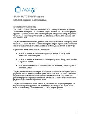 SAMHSA TCE/HIV Program