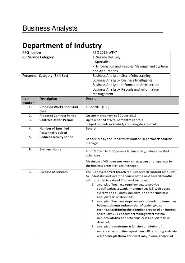Schedule 5 - Request for Quote SON867801 RFQ 2015-Multirole BA
