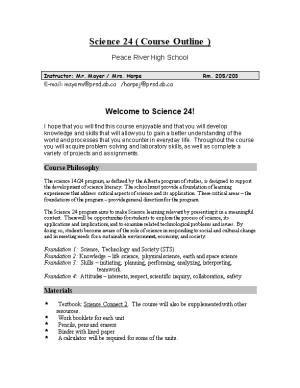 Science 24 Course Outline