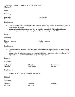 Science 7/8 Trimester 2 Review Packet (All of Chapters 9-11)