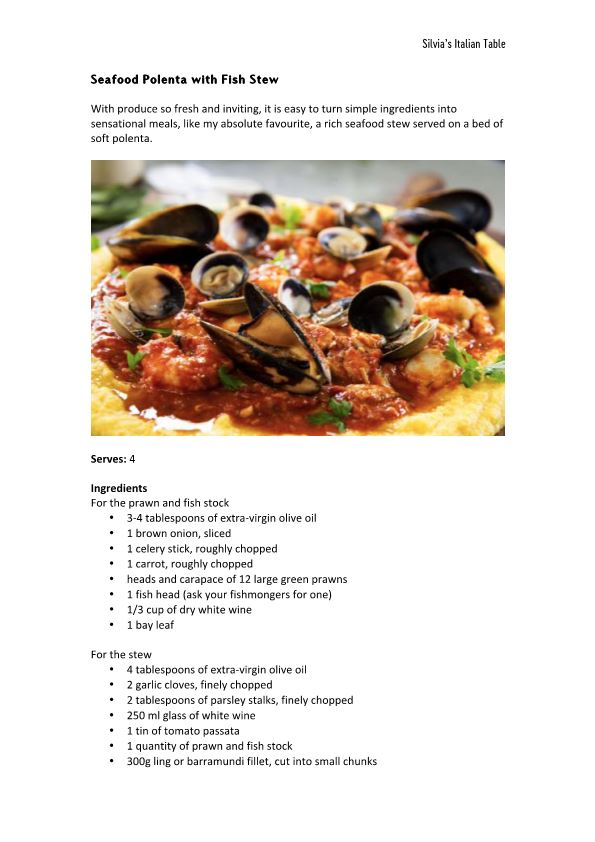 Seafood Polenta with Fish Stew