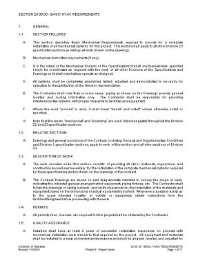 Section 23 05 00 - Basic Hvac Requirements