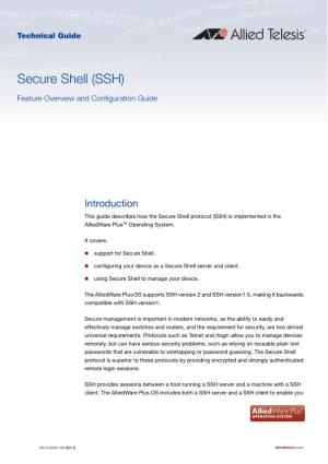 Secure Shell (SSH) Feature Overview and Configuration Guide
