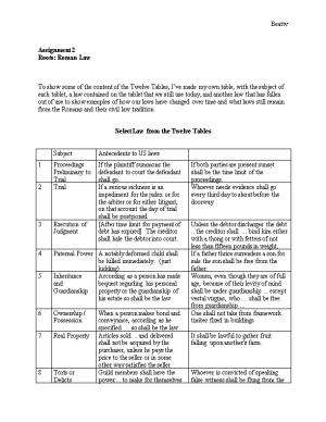 Select Law from the Twelve Tables
