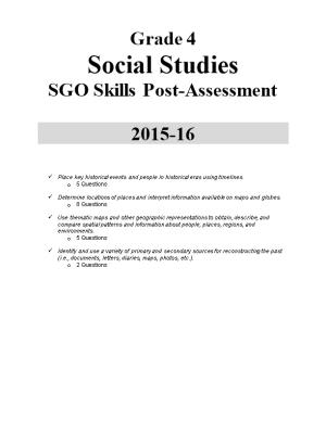 SGO Skills Post-Assessment