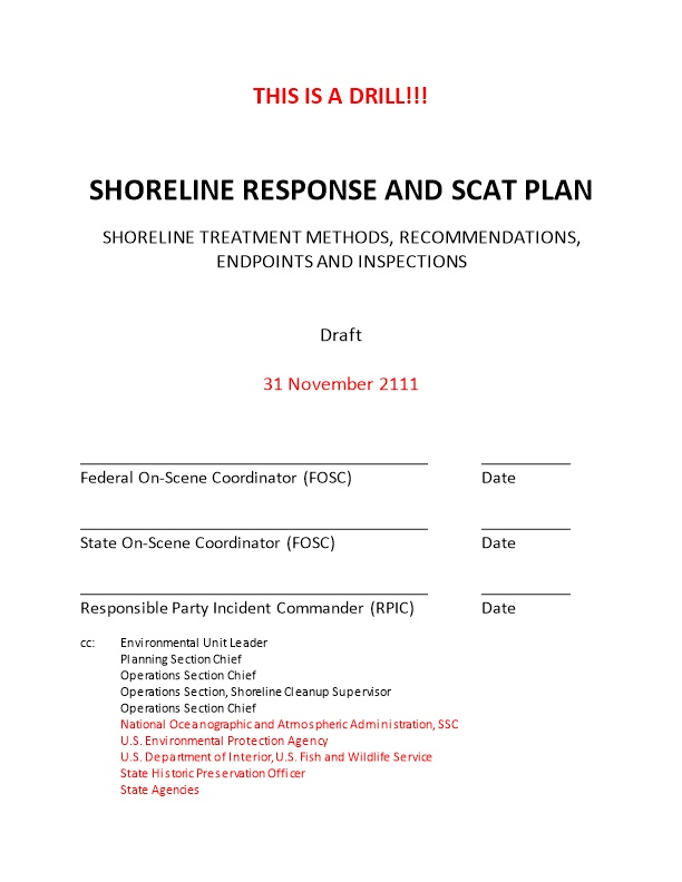 Shoreline Response and Scat Plan