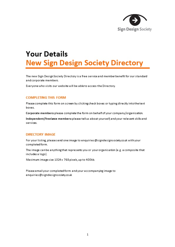 Sign Design Society Directory 2016