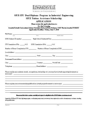 SIUE-ITU Dual-Diploma Program in Industrial Engineering