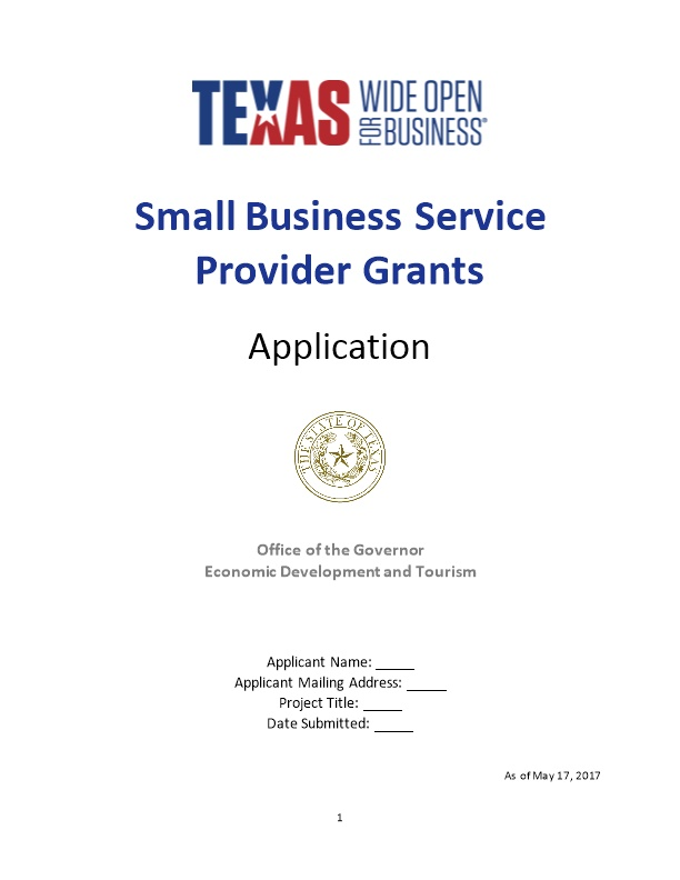 Small Business Service Provider Grants - DocsBay