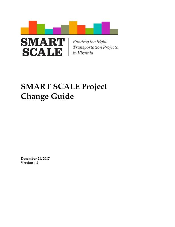 SMART SCALE Project Change Guide
