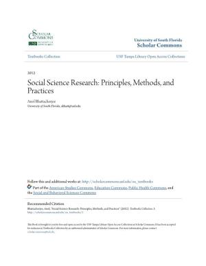 Social Science Research: Principles, Methods, and Practices