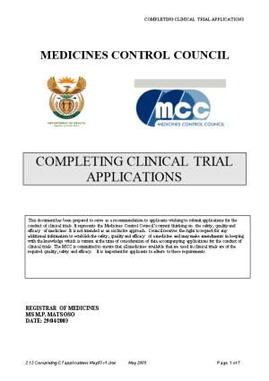 South Africa : Clinical Trial Application
