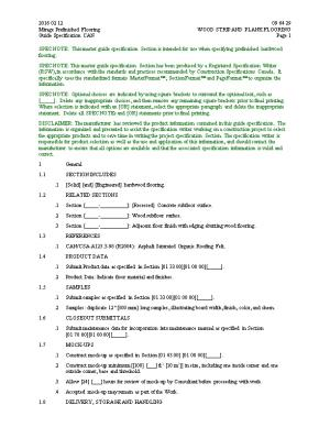 SPEC NOTE: This Guide Specification Is Intended for Use by Experienc