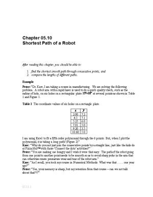 Special Interpolation Example Textbook Notes: Interpolation: General Engineering