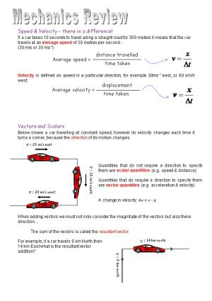 Speed & Velocity - There Is a Difference!