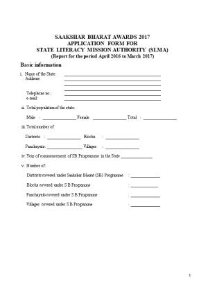State Literacy Mission Authority (Slma)