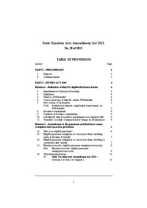 State Taxation Acts Amendment Act 2011