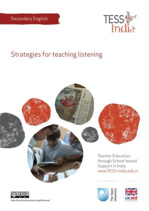 Strategies for teaching listening (TESS)