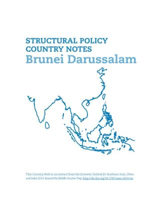 STRUCTURAL POLICY COUNTRY NOTES Brunei Darussalam