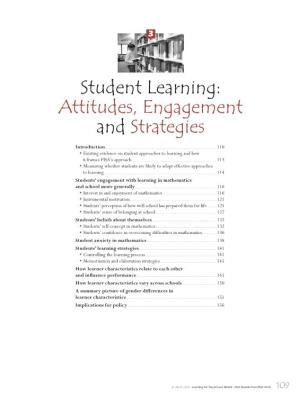 Student Learning: Attitudes, Engagement and Strategies