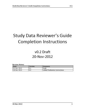 Study Data Reviewer S Guide Completion Instructionsv0.1