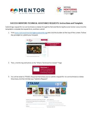 SUCCESS MENTORS TECHNICAL ASSISTANCE REQUESTS:Instructions and Template