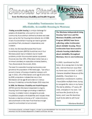 Success Story from the Montana Disability and Health Program