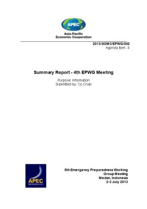 Summary Report - 4Th EPWG Meeting