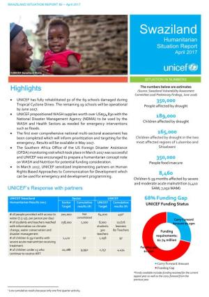 Swaziland Humanitarian Situation Report