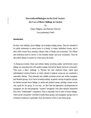 Swedish Discourses on Honor Related Violence