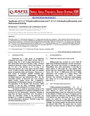 Synthesis of 4 ,5,7-Trihydroxyflavanone and 3 ,4 ,5,7-Tetrahydroxyflavanone and Antioxidant