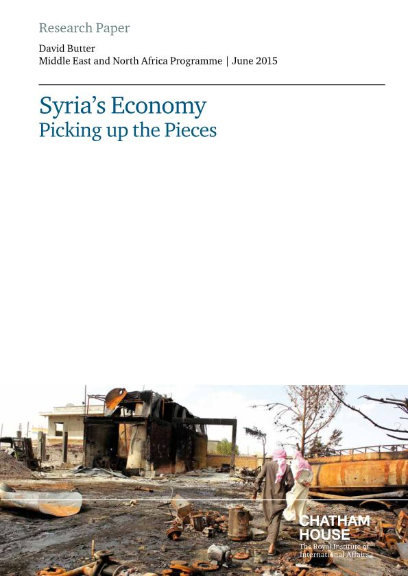 Syria'S Economy Picking up the Pieces