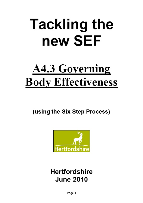 Tackling the New SEF - Governing Body Effectiveness