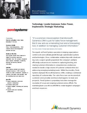 Technology Leader Increases Sales Power, Implements Strategic Marketing