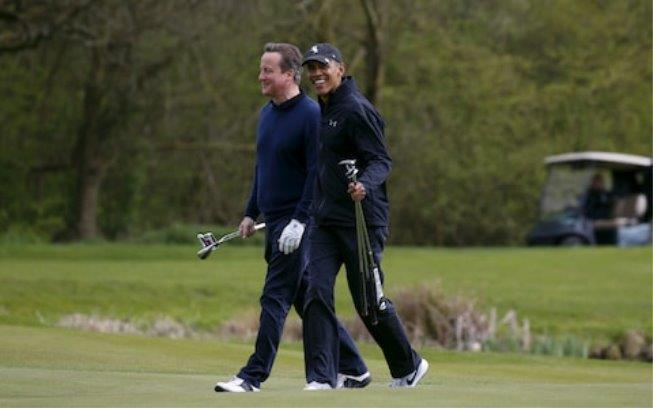 Golf is a favourite of many world leaders Barack Obama and David Cameron played together in 2016